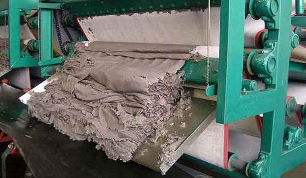 sludge treatment belt filter press