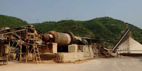 ball mill grinding site