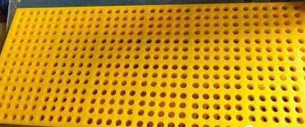 polyurethane rubber screen