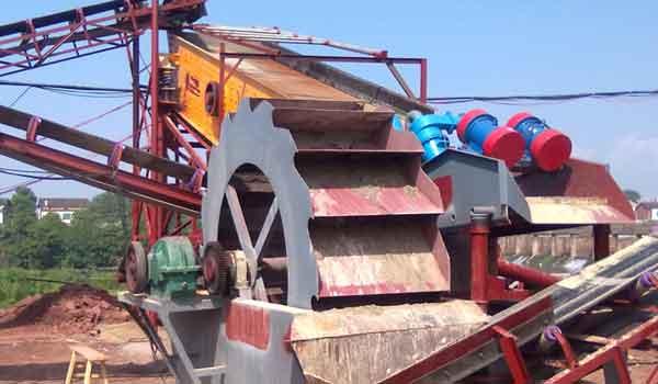 wheel sand washer